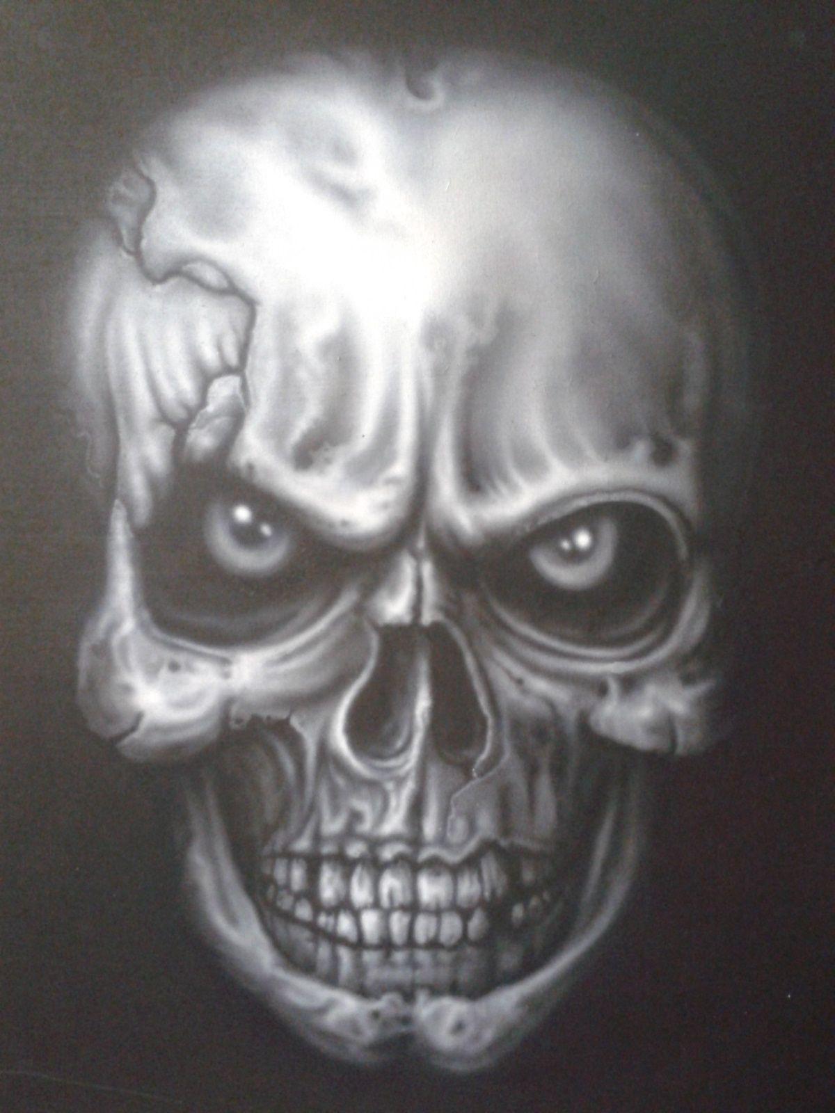 Art Skull Airbrush Stencils