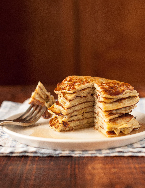 How To Make 2 Ingredient Banana Pancakes Recipe Banana Pancakes Food Recipes