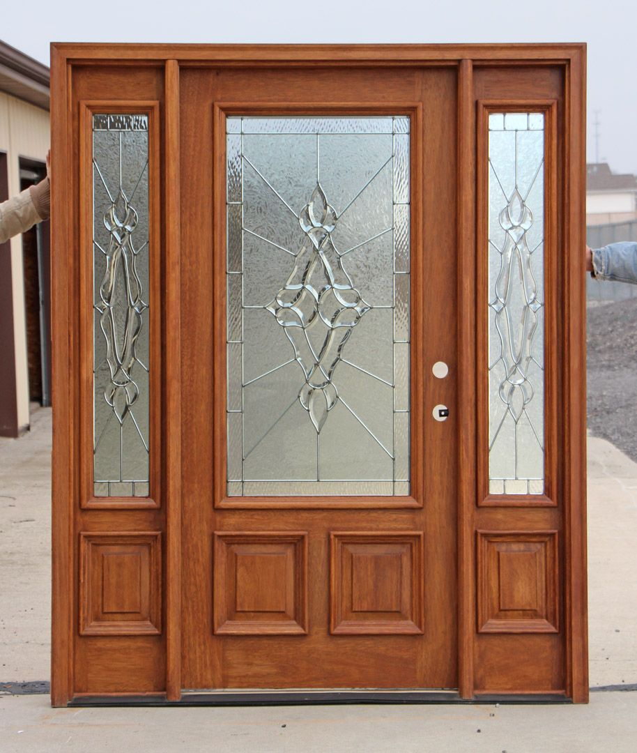 front entry doors with side lights showroom display door