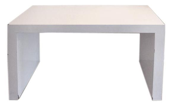 Custom David Hicks Style White Parsons Desk Console Table