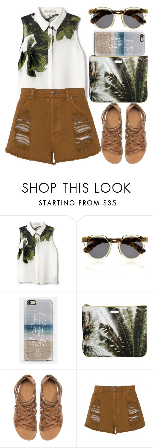 """""""QPLF"""" by krizan ❤ liked on Polyvore featuring Elle Sasson, Illesteva, Casetify, Mauro Grifoni, Zara and MINKPINK"""