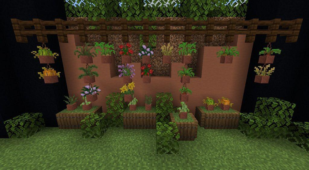 Florist Mod 1 14 4 Plants Flower Pots Minecraft Plants