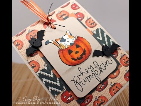 Prairie Paper  Ink Hey Pumpkin Halloween Series #12 Prairie - halloween arts and crafts decorations