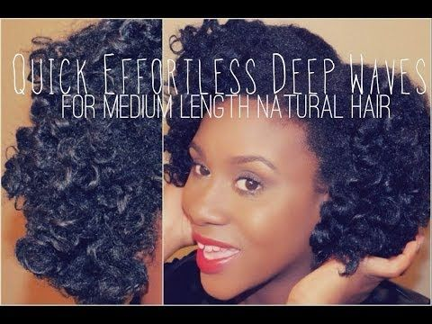 Pleasant Quick Effortless Deep Waves Tutorial For Medium Length Natural Hairstyle Inspiration Daily Dogsangcom