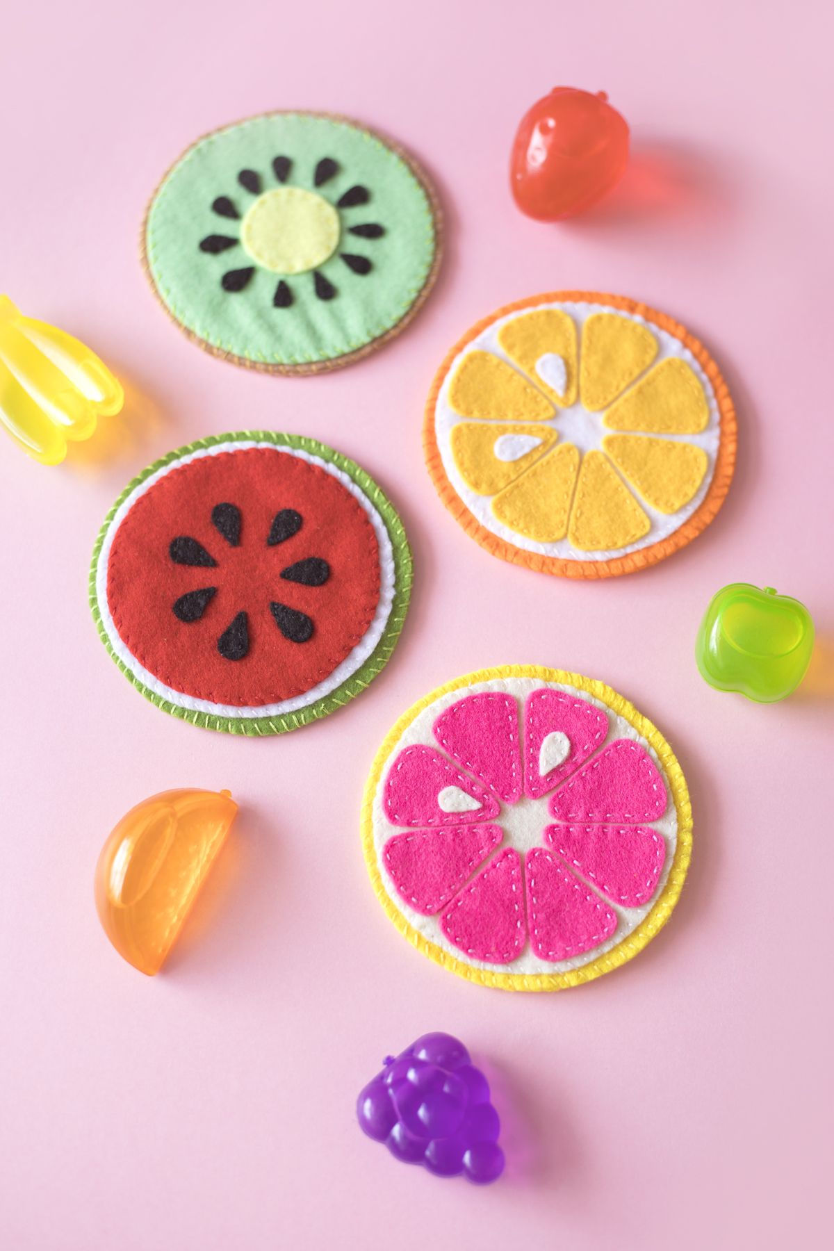 Girl's Accessories Felt New Hair Clip Watermelon Set Handmade Sufficient Supply