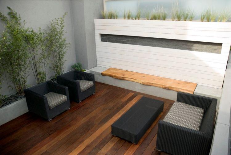 #Terrassen Bambus Im Kübel Als Sichtschutz Und Deko Auf Der Terrasse #Bambus  #im