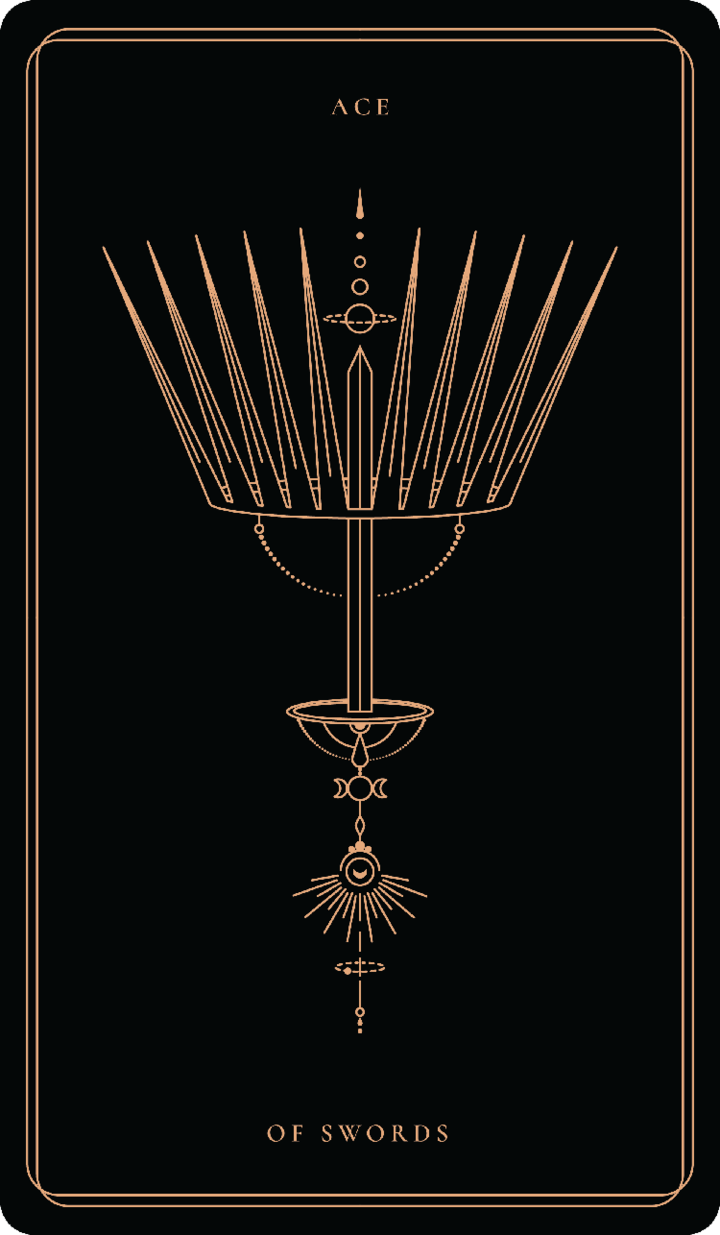 Ace Of Swords In 2020 Soul Cards Ace Of Swords Tarot Tattoo