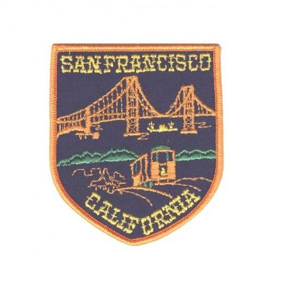 Iron on San Francisco Patch Golden Gate Bridge and Cable Car