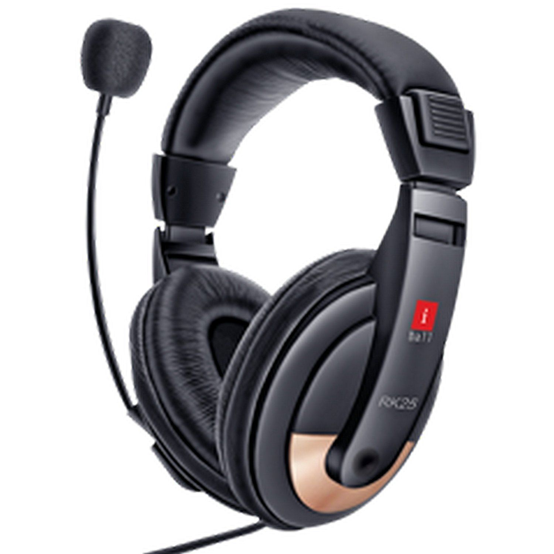 Amazon Buy iBall RK25 Multimedia Headphones with Mic Black line at