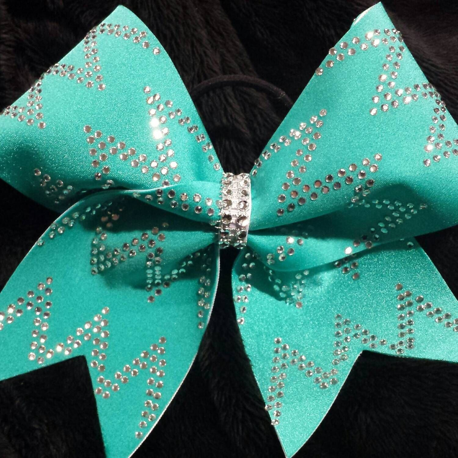 Chevron Bling Cheer Bow by BowtabulousCheerBows on Etsy https://www.etsy.com/listing/214618399/chevron-bling-cheer-bow