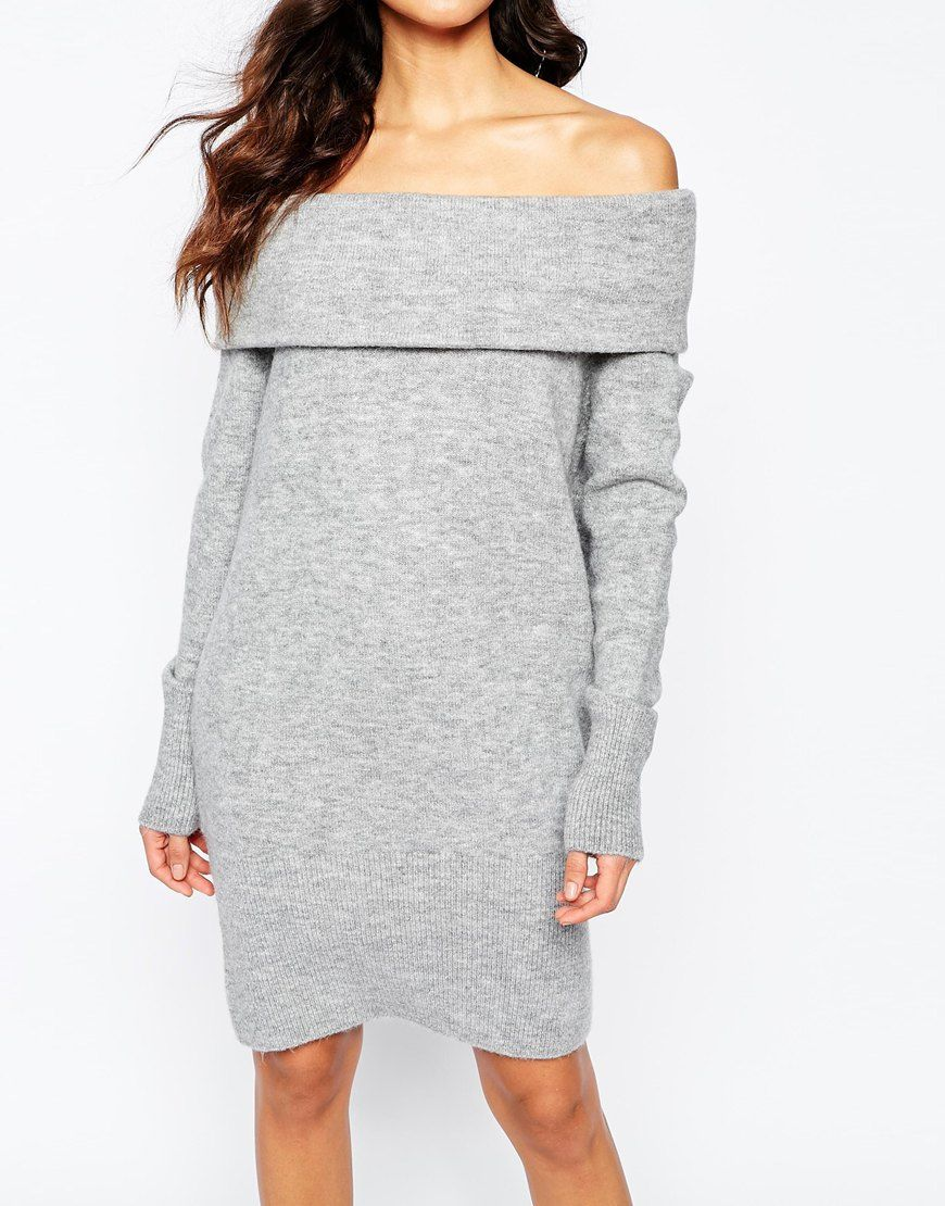 2255bebe326 Image 3 of River Island Off The Shoulder Sweater Dress
