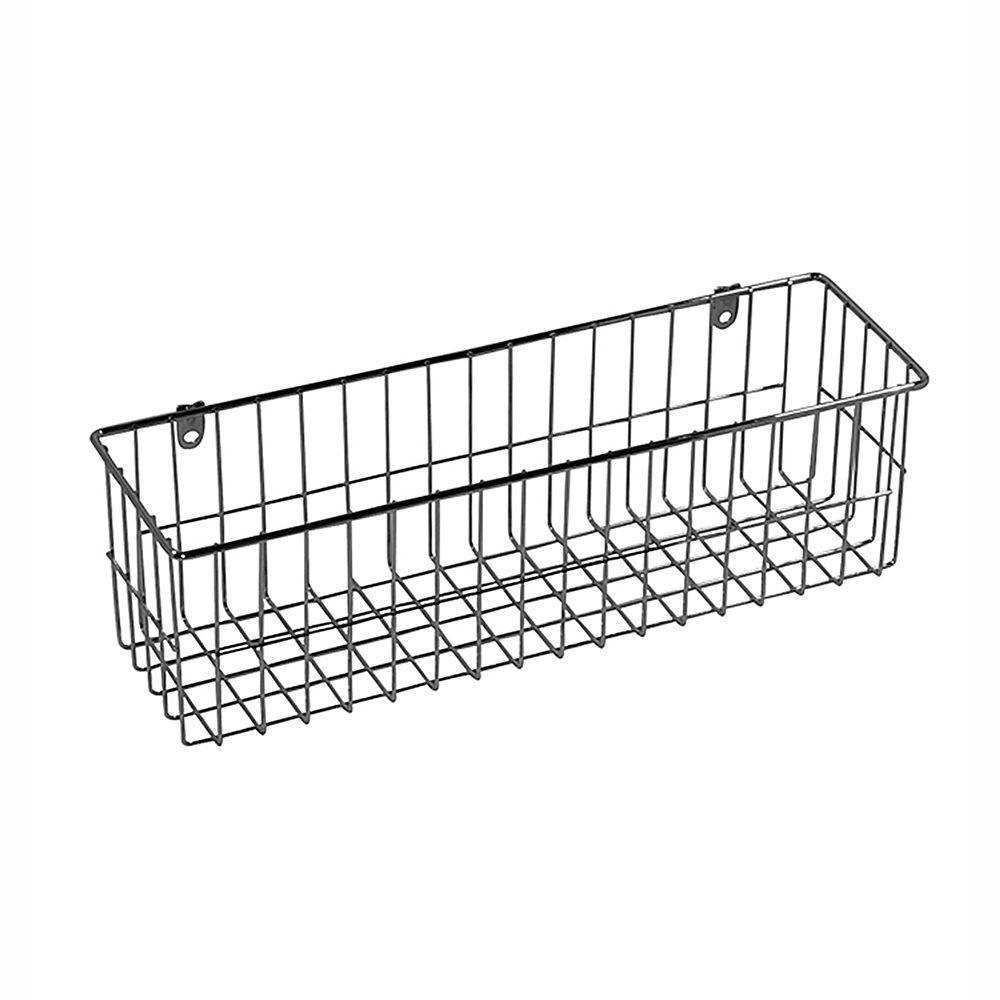 Ltl Home Products 13 5 In X 4 In More Inside Medium 4 Sided Wall Mount Wire Basket Ws W219322c The Home Depot Wall Mounted Wire Baskets Wire Basket Shelves Large Wire Basket