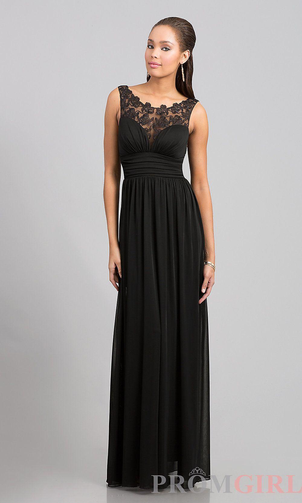 f69509e48c03 Floor-Length Illusion-Lace Sleeveless Dress | Bridesmaids Dresses ...