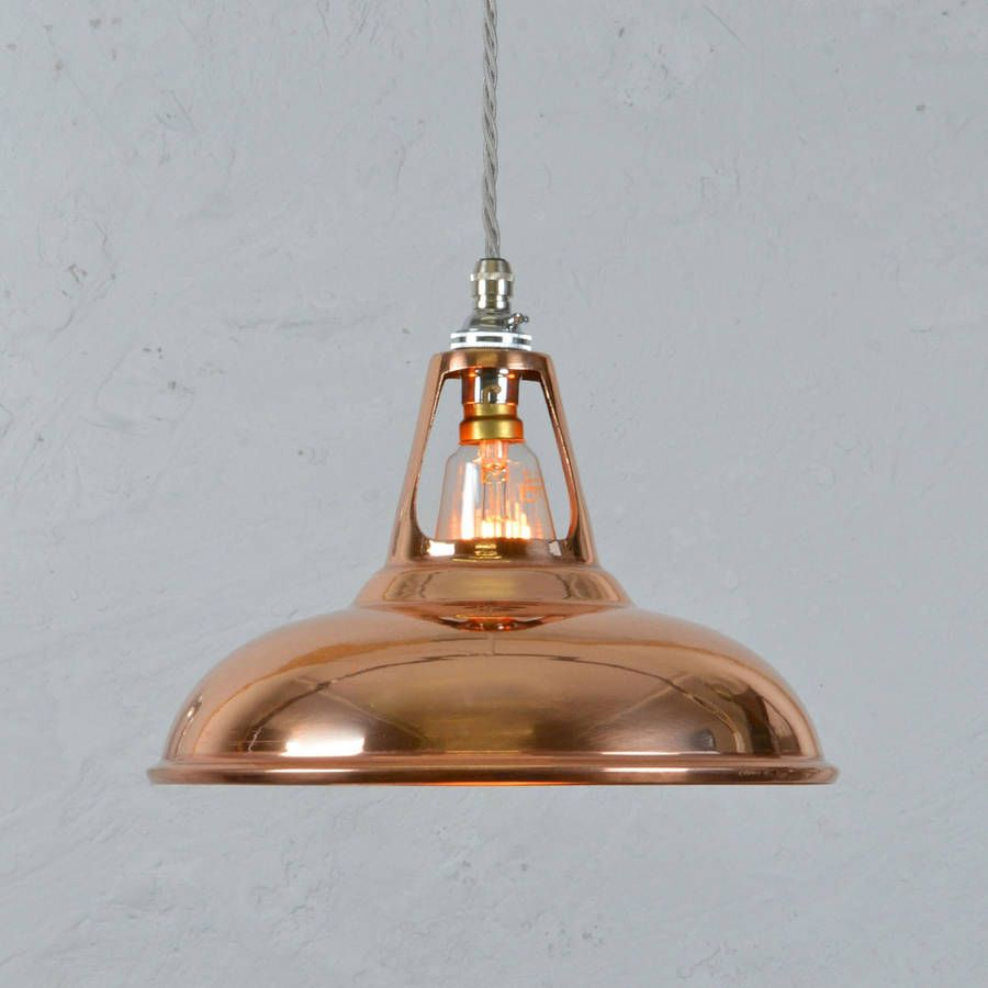 Coolicon industrial copper pendant light pendant lamps ive just found copper industrial pendant lamp modelled on the industrial design classic of the coolicon our copper reproductions give this iconic design mozeypictures Gallery
