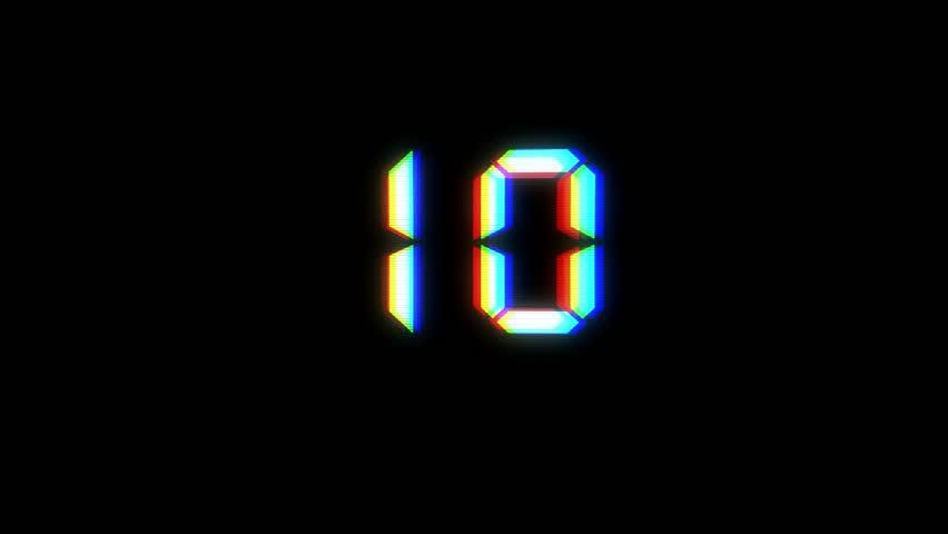 Glitch Interference Countdown Numbers from Stock F
