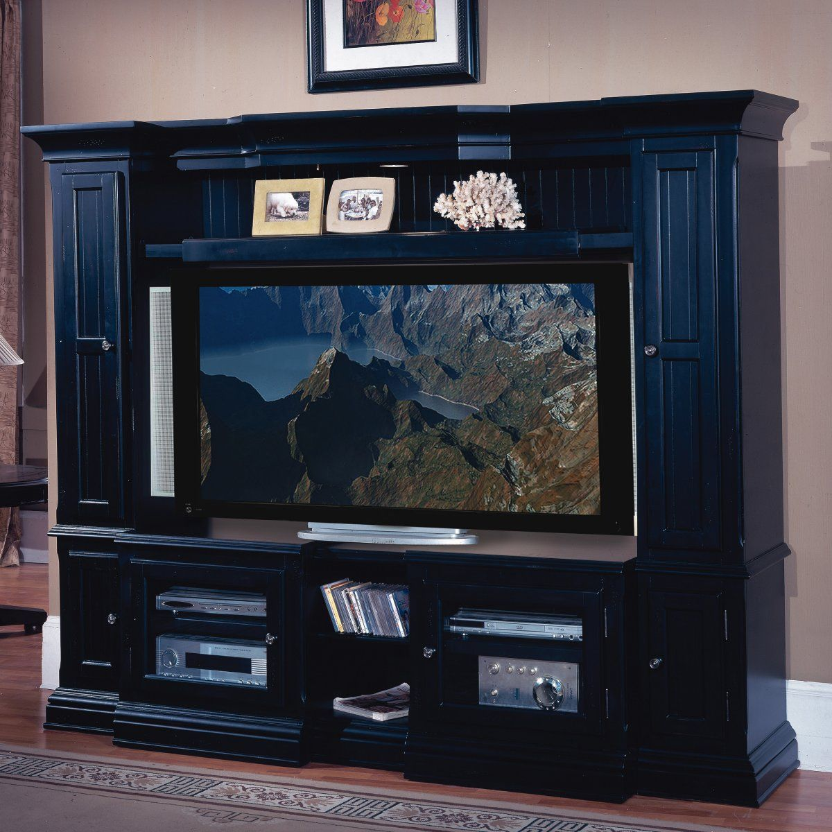 Home Entertainment Spaces: Parker House Country Creek Expandable Space Saver