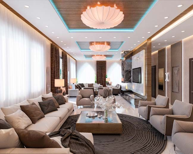 Luxury Interior Design Ideas Living Room For A Big Family  Luxury Endearing Big Living Room Designs Design Ideas