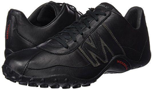 ab82450050b Merrell Sprint Blast, Men's Lace-Up Trainer Shoes - Black (Black/Scarlet