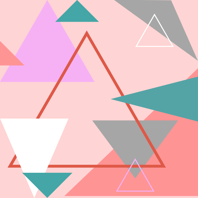 21c3f833 'Abstract Polygon Multi Color Cubism Low Poly Triangle Design' Art Print by  badbugs