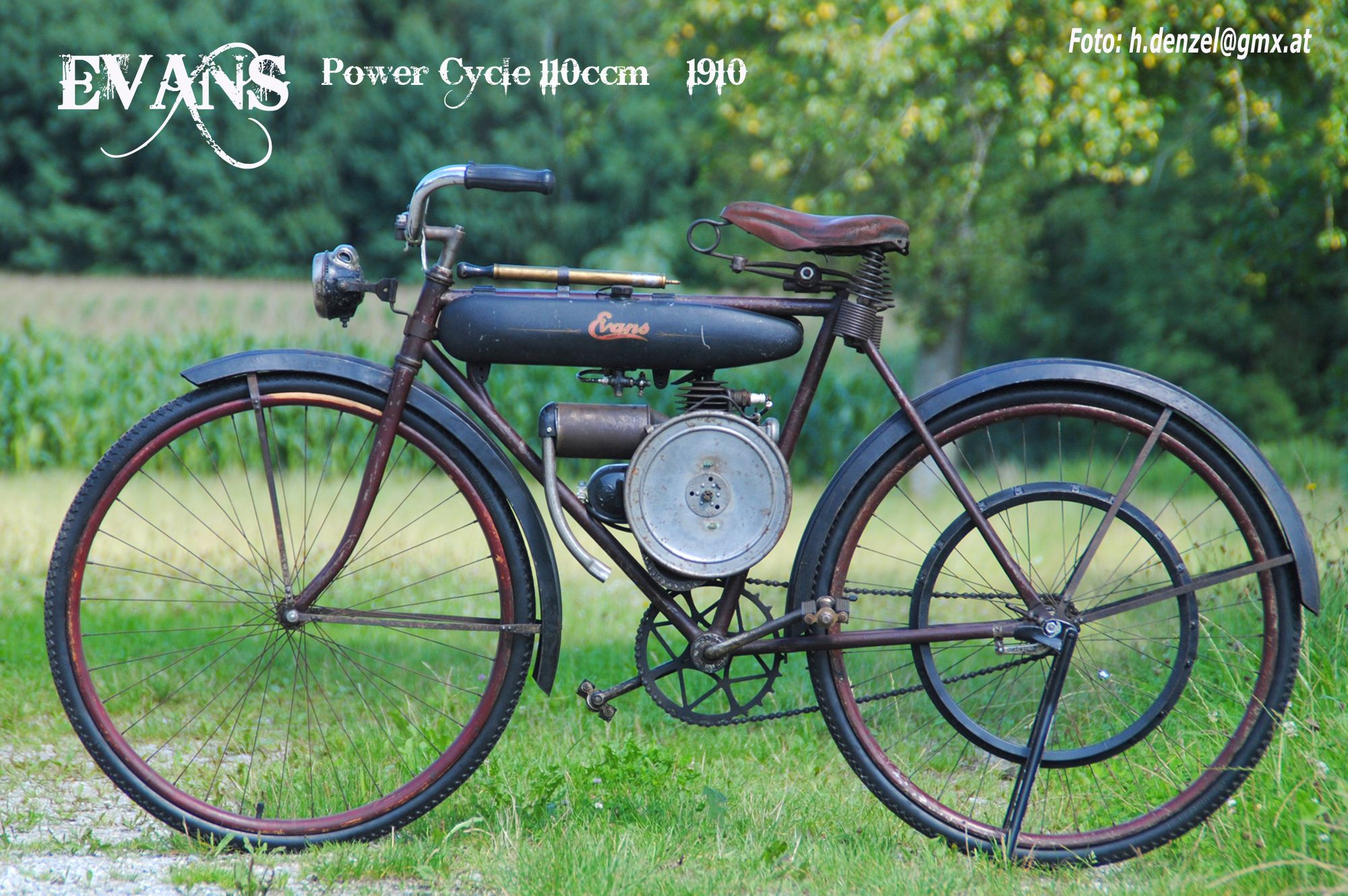 Evans Power Cycle 110ccm 1910 | 50CC Scooters | Cyklar