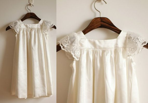 Lace Cap Sleeves Flower Girl Dress Infant Toddler PAGEANT Bridal Party Dress on Etsy, $39.99