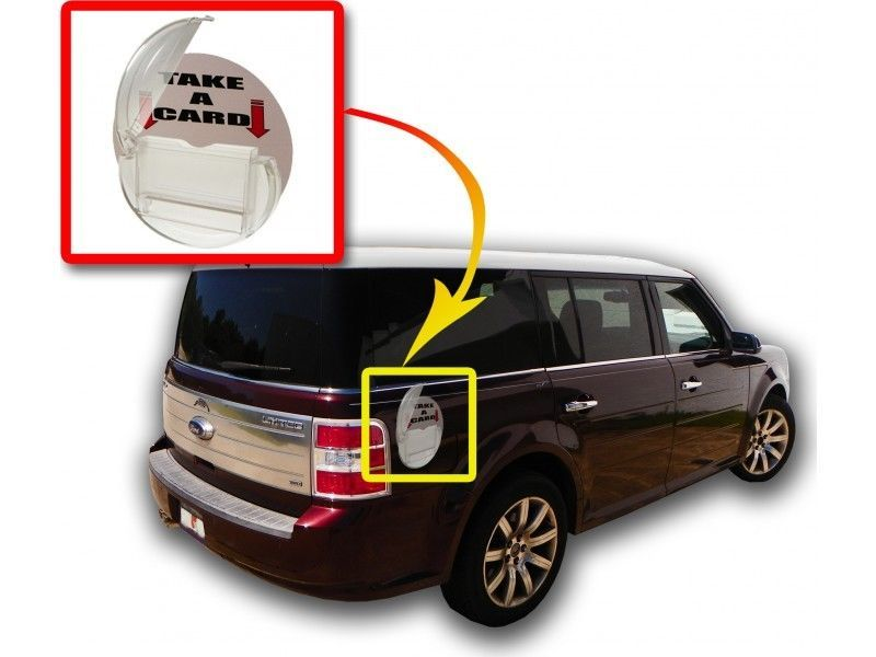 2 Business Card Caddie Magnetic Outdoor Service Vehicle Business ...
