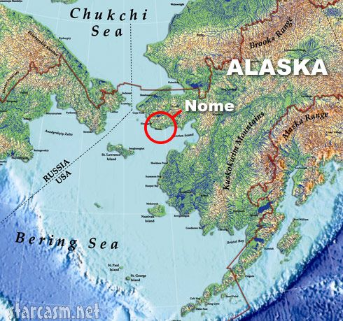 Map showing Nome Nome Alaska Inspirations