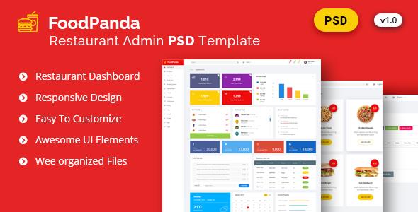 nice admin foodpanda dashboard psd template corporate