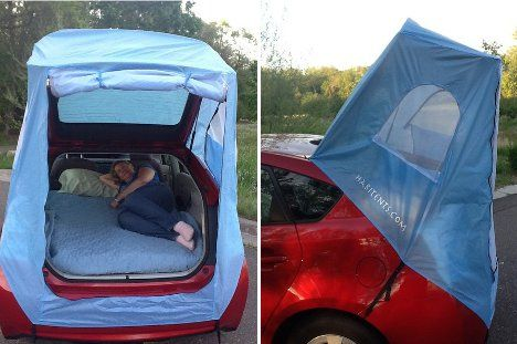 habitents prius tent car tent turns Prius into a tiny mobile hotel room for two & habitents prius tent: car ten turns Prius into a tiny mobile hotel ...