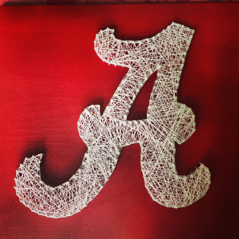 University of Alabama string art