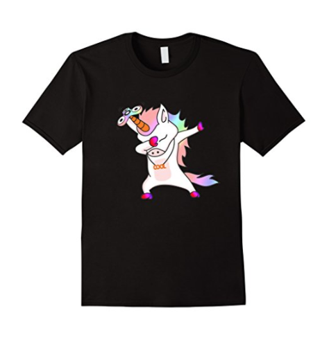 Cool Dabbing Unicorn Fid Spinner Novelty T Shirt TEES