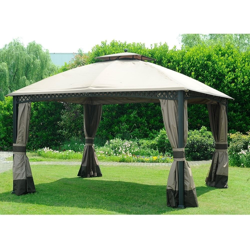 Sunjoy Replacement Canopy Set For Gazebo Model L Gz717pst C Outdoor Shade Gazebo Backyard