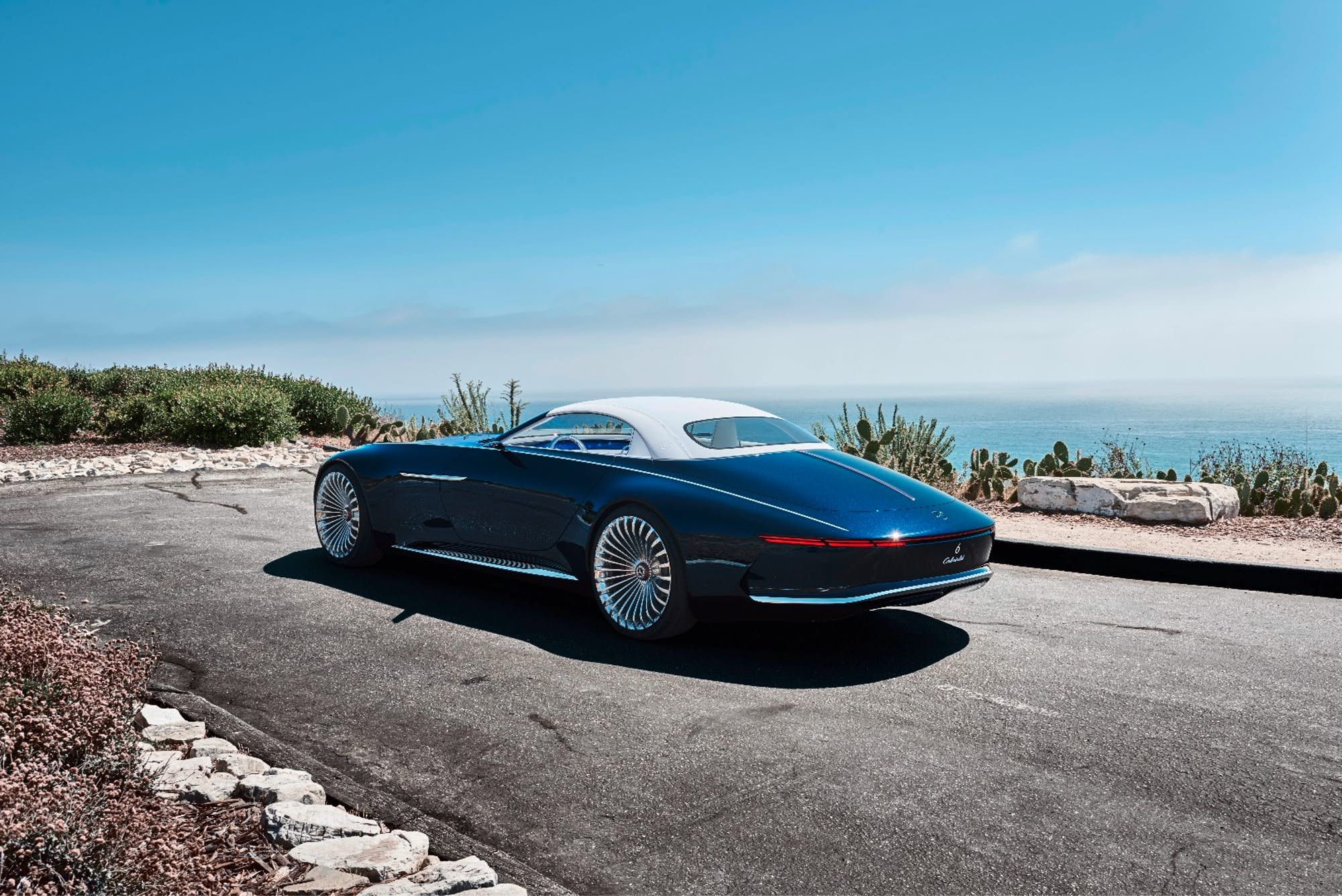 Monumental Vision Mercedes Maybach 6 Cabriolet arrives at Pebble
