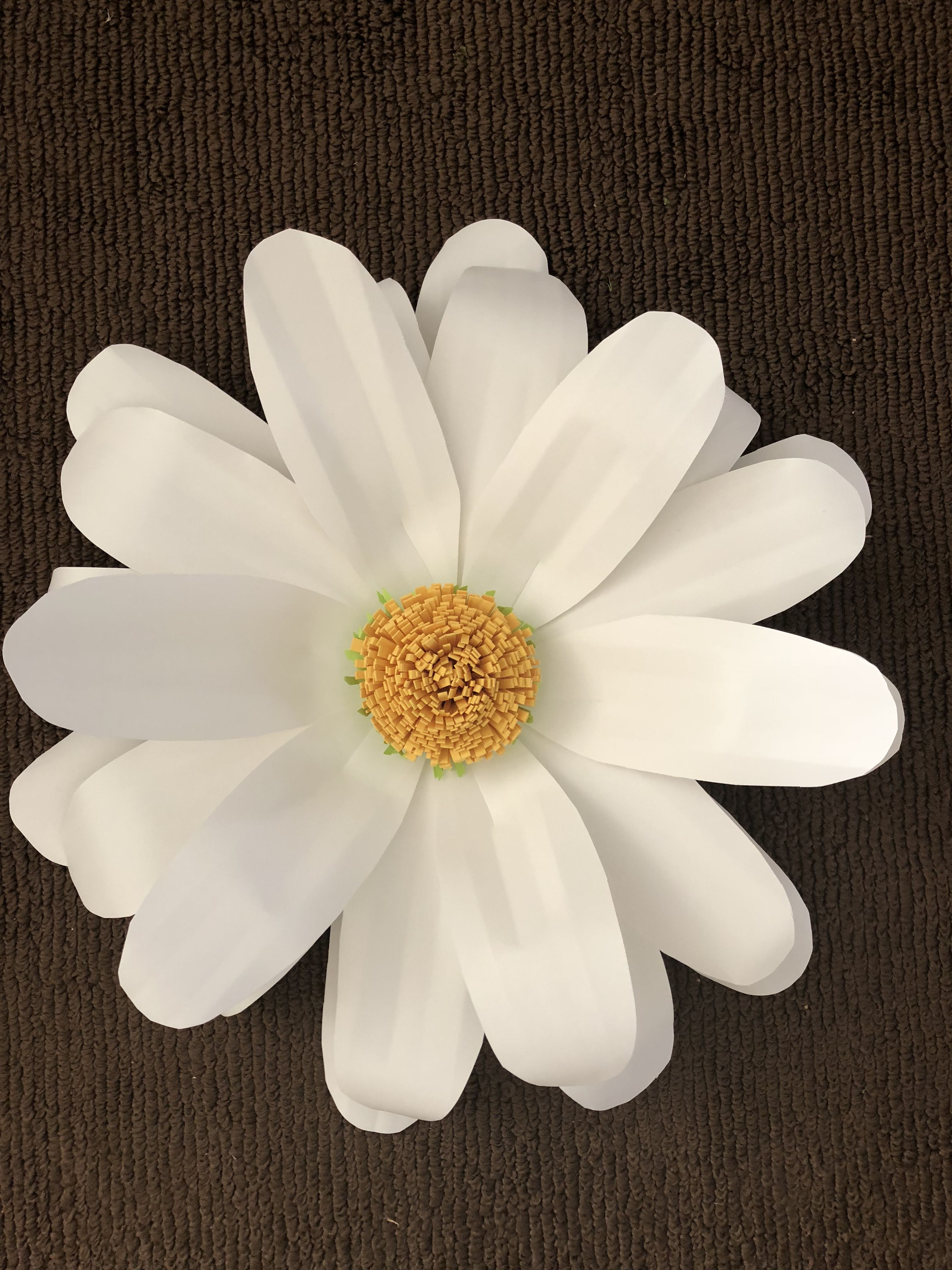 Giant Daisy Paper Flower I Tried To Use A Real Flower As An