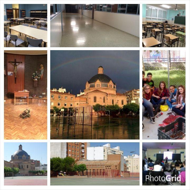 Actividad 6.2 realizada con Photogrid sobre mi centro de trabajo: Salesianos Estrecho