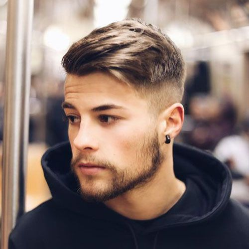 Beautiful High Fade + Thick Side Swept Hair