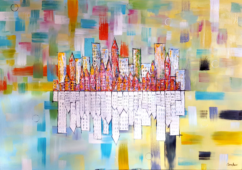 Dimensioni tela: 100×70 cm spessore della tela: 1 cm. tema: pittura