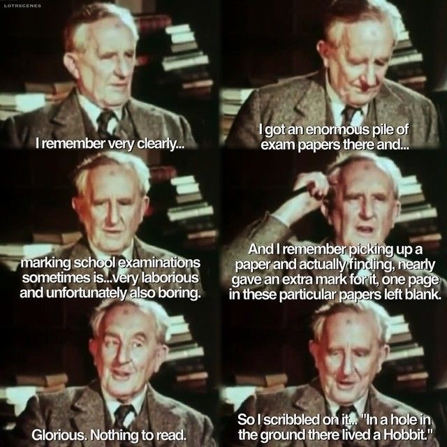 From An Interview With J R R Tolkien Talking About How He Started