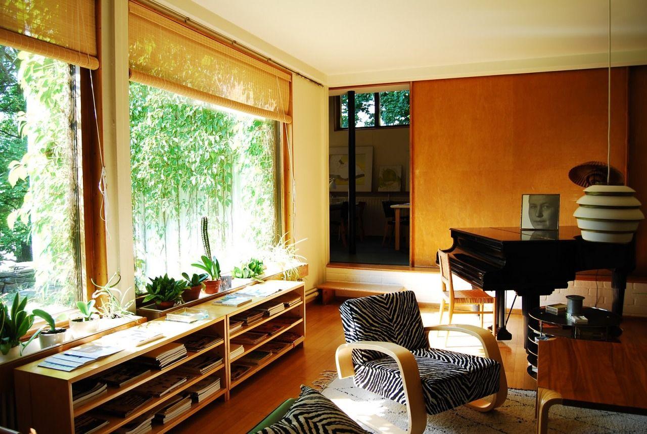 Alvar aalto house interior aaltous house riihitie helsinki  interiors  pinterest  helsinki