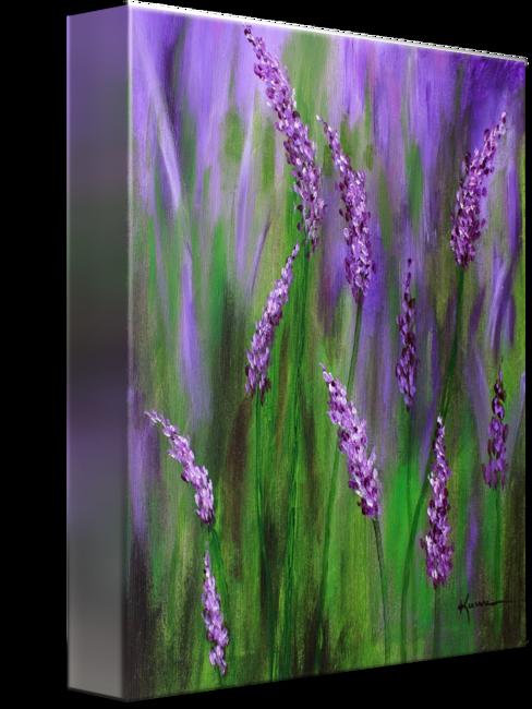 Flower Painting Lavender Garden By Kume Bryant Acrylmalerei Blumen Lila Malen Wie Man Blumen Malt