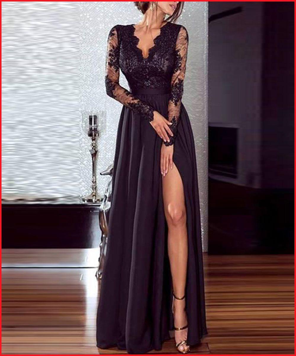 €25,99 | abendkleid, kleid mit schlitz, schwarzes kleid