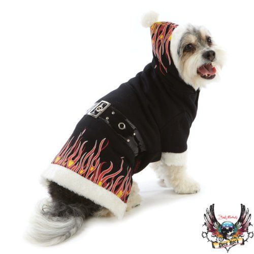 562f73f1 Pet Rocks Holiday Flame Hoodie Dog Pupper Winter Jacket Medium ...