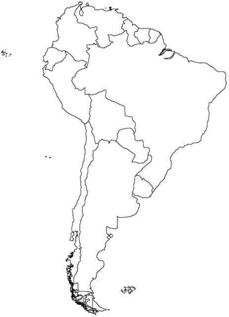 South America Map Blank South America | Spanish Education | South america map, America