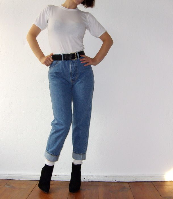 levis 501 jeans high waist vintage fr he 80er jahre. Black Bedroom Furniture Sets. Home Design Ideas