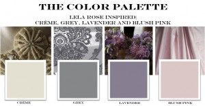 Lela Rose color palette - navy instead of lavender