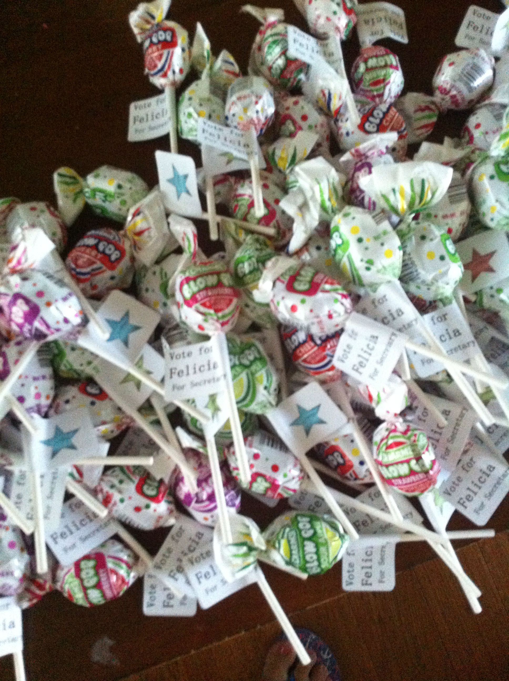 Middle School Student Council election give-aways. | My ...