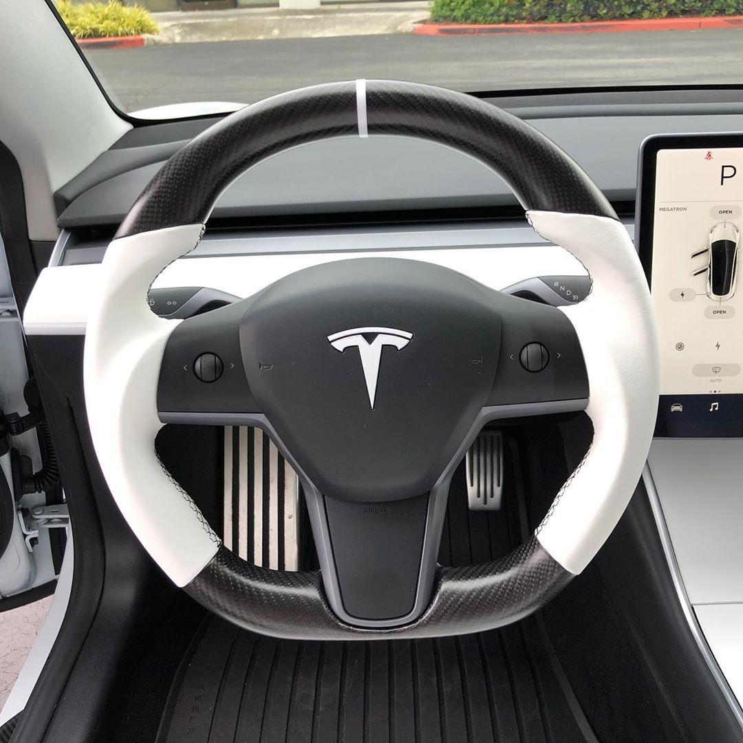 Dct Motor Sports S Instagram Photo Tesla Model 3 Steering Wheel Custom Made For Customer Jayt M3 Tesla Model Tesla Model X Tesla Model S