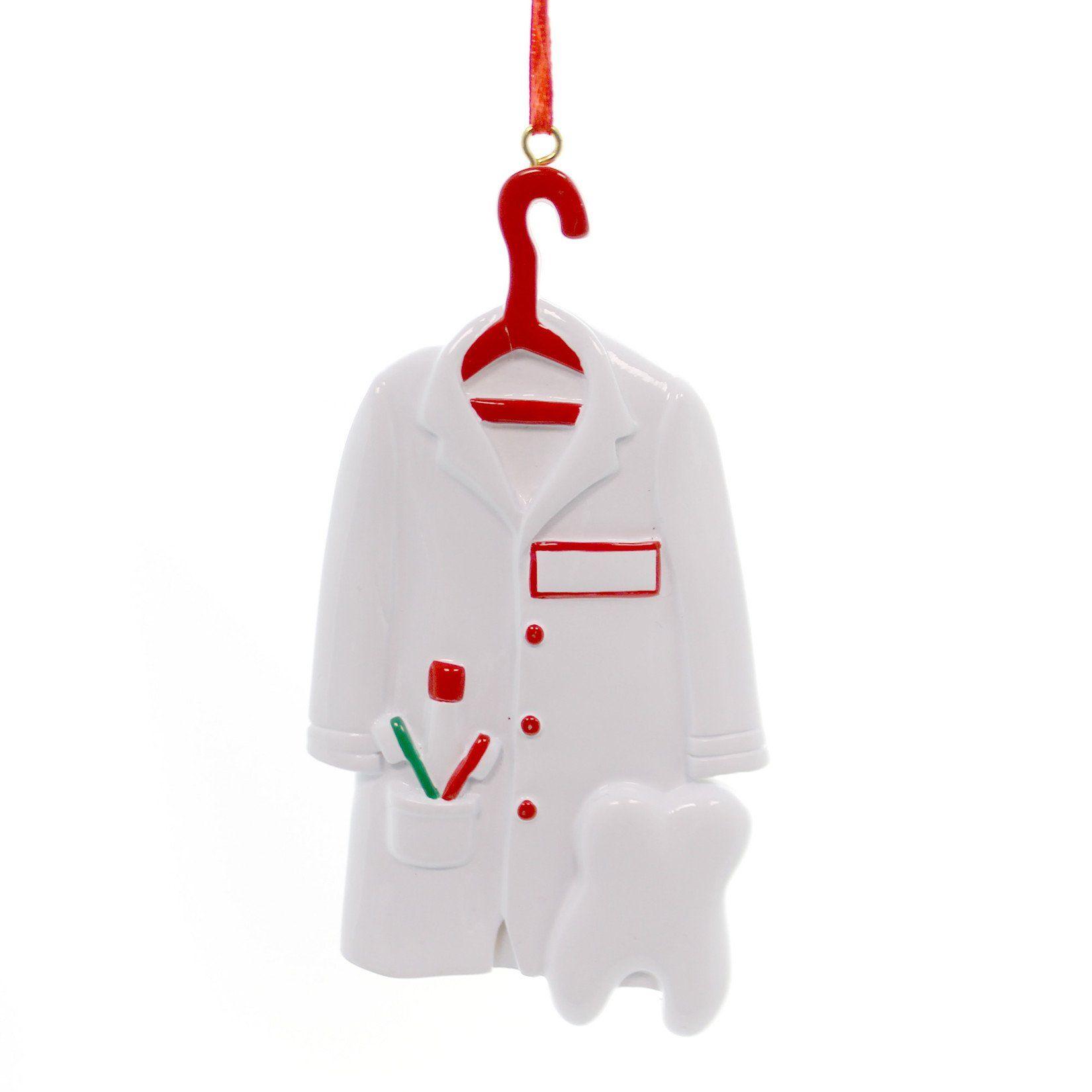 Personalized Ornament Dentist Coat Ornament Personalized Ornament