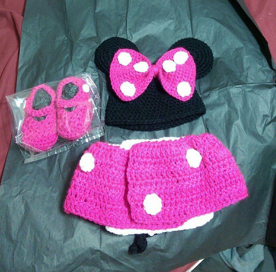 Lujoso Pañal Del Ratón Patrón De Crochet Cubierta Libre De Minnie ...