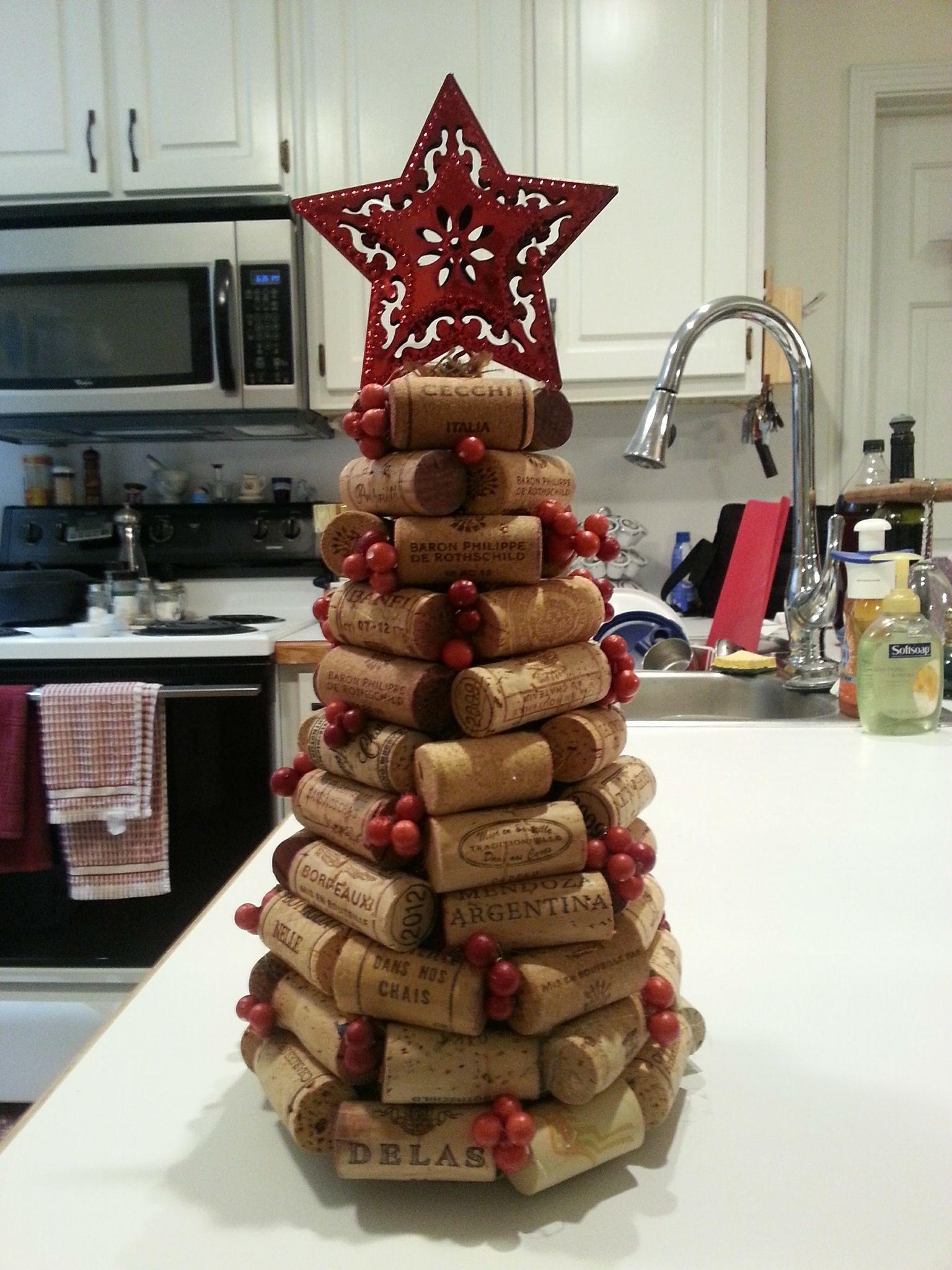 Wine cork Christmas tree winecorkcrafts
